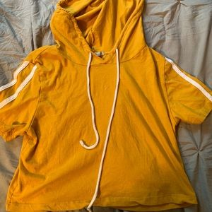 Charlotte Russe cropped yellow hoodie